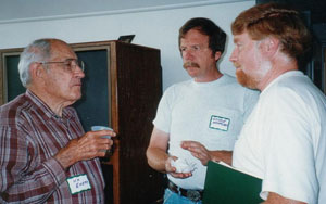 K.O. Emery, George Heufler and Carl Brievogel at OPET's Annual Meeting in 1996.